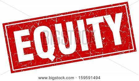 equity. square. stamp. grunge. vintage. sign. Isolated