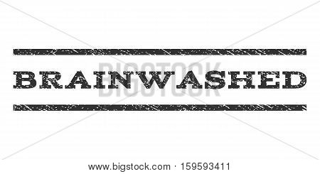 Brainwashed watermark stamp. Text tag between horizontal parallel lines with grunge design style. Rubber seal gray stamp with dust texture. Vector ink imprint on a white background.