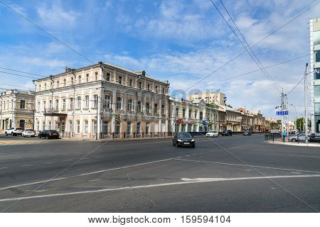 View Of Old Buildings In Astrakhan. Russia