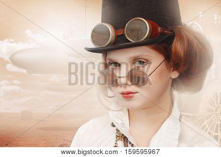 Redhead Girl Steampunk