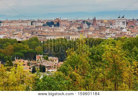 Scenic View Of Rome On A Fall Day