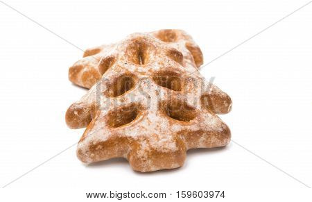 Christmas biscuit cookies isolated on white background