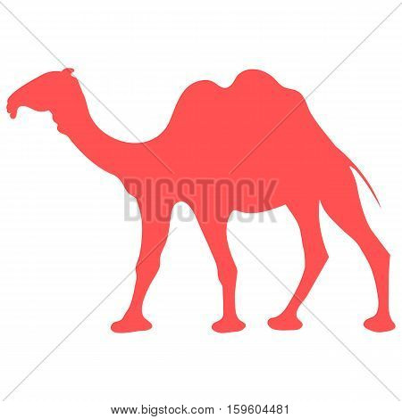 Stylized Icon Of A Colored Camel