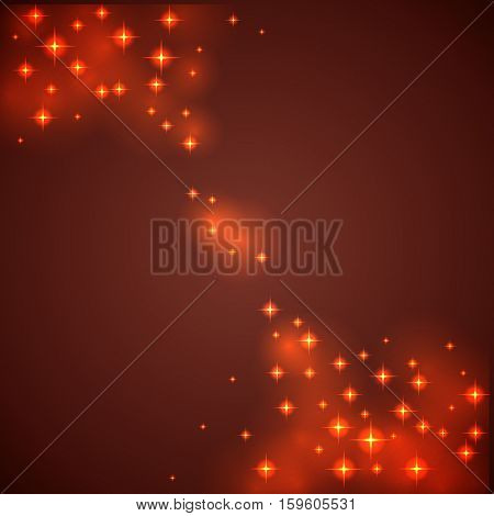 Abstract diagonal sparks red Christmas background. Vector Illustration.