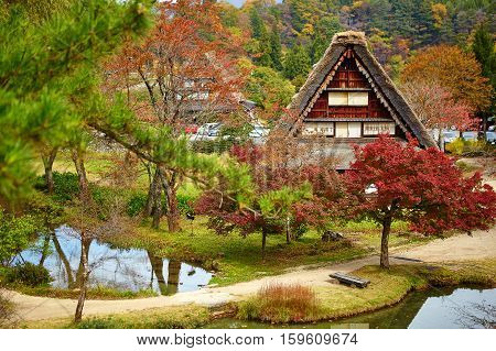 House In Historic Village Shirakawa-gom Japan