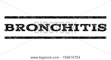 Bronchitis watermark stamp. Text caption between horizontal parallel lines with grunge design style. Rubber seal black stamp with dust texture. Vector ink imprint on a white background.