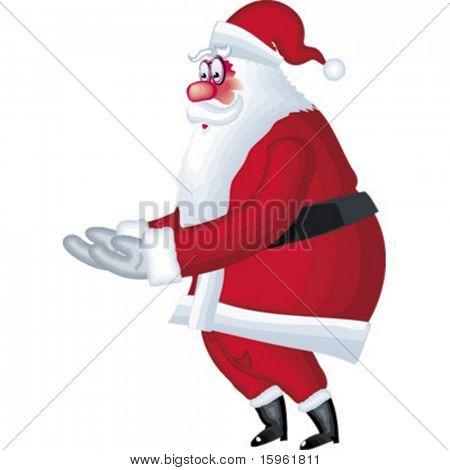 Illustration of Santa Klaus in various poses