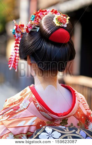Momoware - Traditional Hairstyle Of A Young Maiko