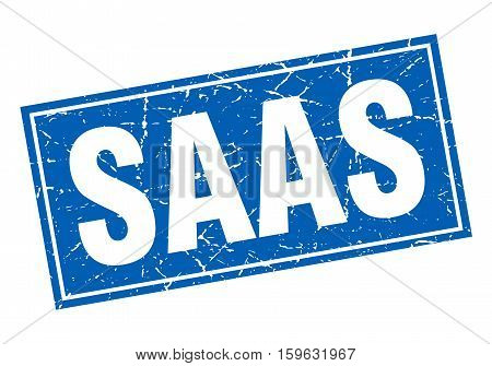 saas. square. stamp. grunge. vintage. sign. Isolated