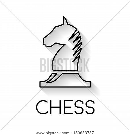 Vector sign horse of chess in black