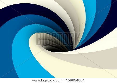 black hole in gray blue color 3D illustration