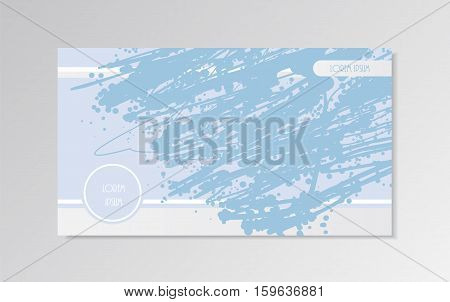 Slide background presentation template. Vector illustration in light blue colors. Page horizontal HD format screen layout design.