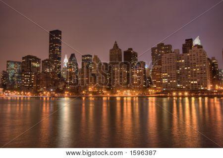 Downtown Manhattan At Night, Nyc