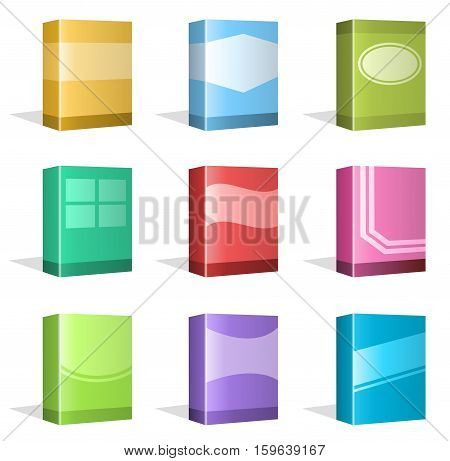 Vector Illustration of different Software Boxes or Ebook Cover Designs. Best for Technology, Merchandise, Application Software, Ebook Cover Designs concept.