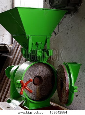 Grain mill electric small portable agriculture objects.
