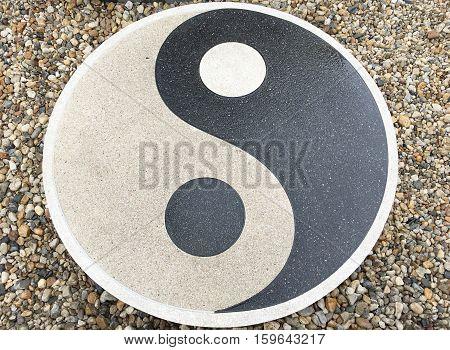 Chinese talisman shaped pedestal floor at thailand