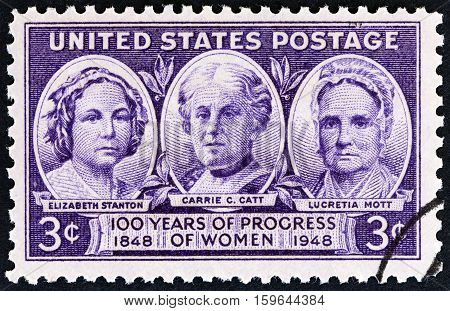 USA - CIRCA 1948: A stamp printed in USA from the