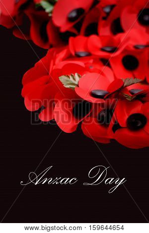 Abstract Creative Anzac Day Remembrance Day Poppy Scene
