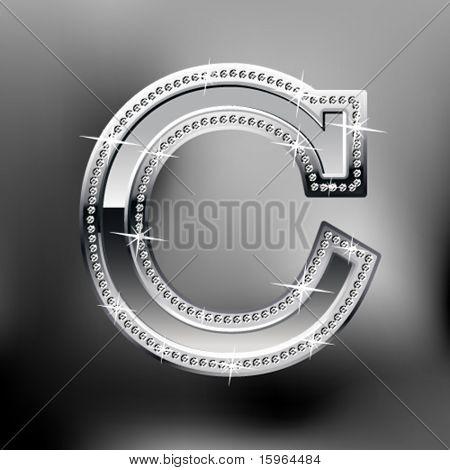 Silber Schrift