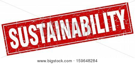 sustainability. square. stamp. grunge. vintage. sign. Isolated