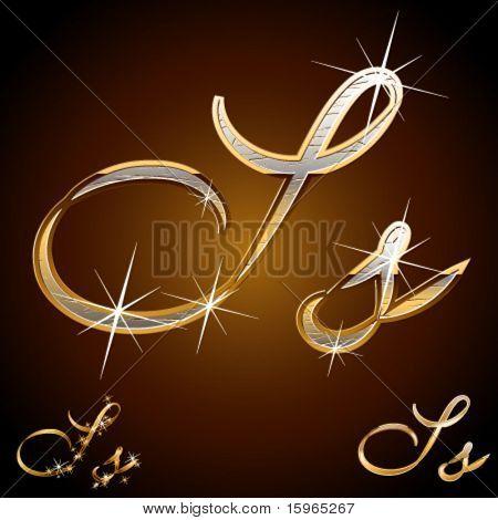 Original luxury typeface. Character s