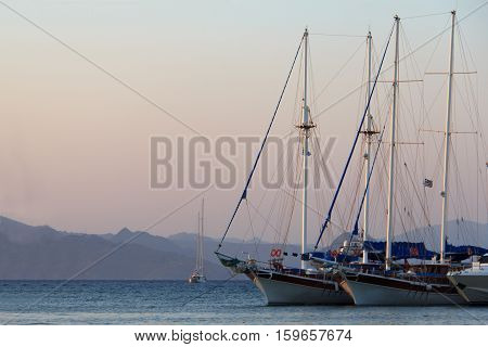 Port of Kos, main city of this greek island.