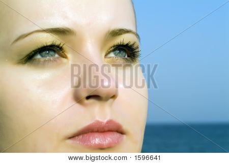 Girl Facing Future