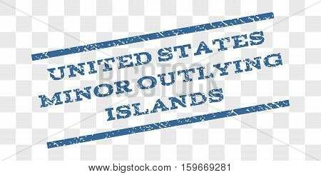 United States Minor Outlying Islands watermark stamp. Text caption between parallel lines with grunge design style. Rubber seal stamp with dust texture.