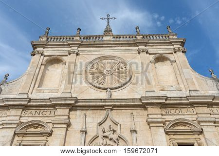 View of the ancient Basilica of San Nicola - Tolentino - Italy