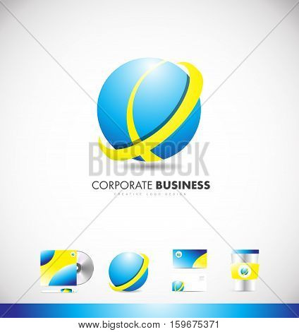 Sphere vector logo icon sign design template corporate identity