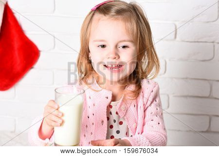Young Cute Blonde Little Girl