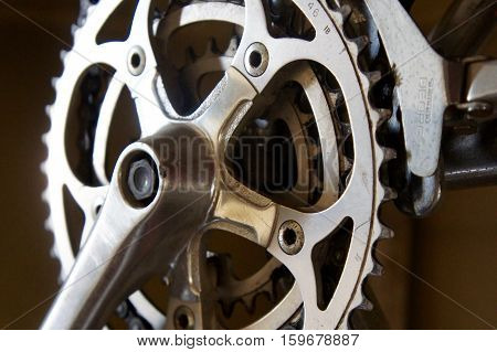 Close Up of a Bicycle Chain Sprocket
