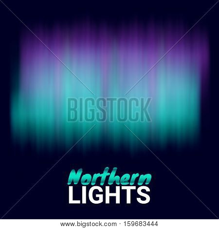 Decoration Element Magic Fabulous Realistic Colored Northern or polar lights. Aurora Beautiful Natural Effect for Design Projects. Vector Illustration for Banner print poster objects.