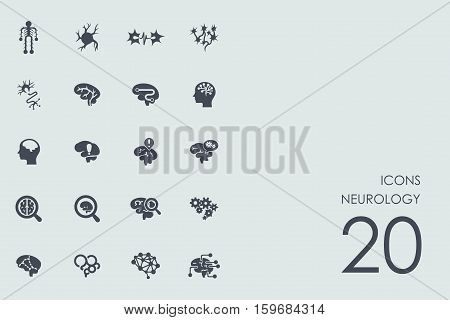 neurology vector set of modern simple icons