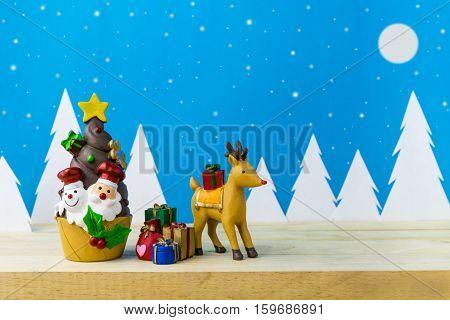 Children toys for christmas decoration. christmas snowman