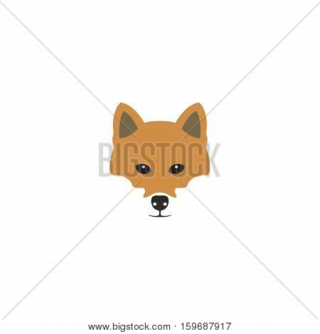 Shiba inu dog head. Design Vector illustration.