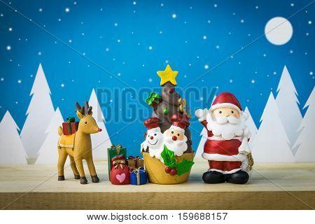 Children toys for christmas decoration. star, doll, snowman
