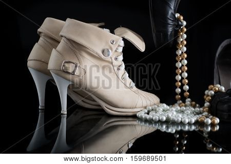Female high heels shoes - Front and Side View