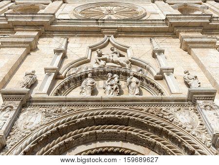 Facade of the Basilica of San Nicola - Tolentino - Italy