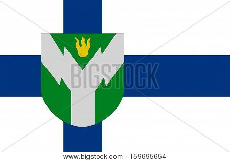 Flag Of Rovaniemi is a city and municipality in Province of Lapland is a province of Finland