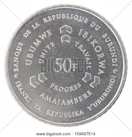 Burundi Franc Coin