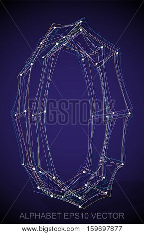 Abstract illustration of a Multicolor sketched uppercase letter O with Transparent Shadow. Hand drawn 3D O for your design. EPS 10 vector illustration.