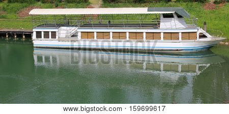 Passenger Ship On The River For Tourist Excursions