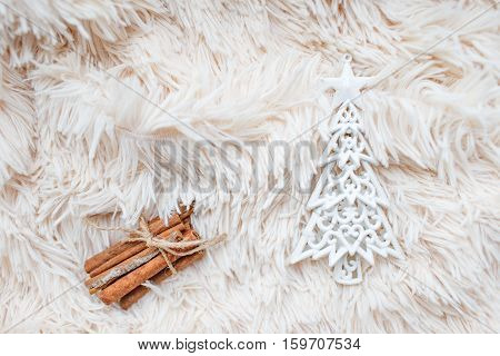 Christmas Toy Christmas tree with cinnamon sticks