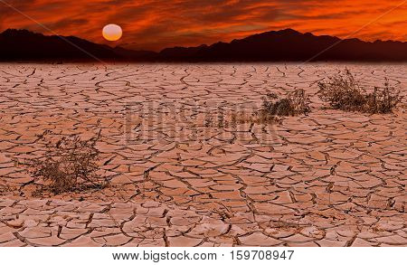 Conceptual image symbolizing a drastic climate changes of our planet