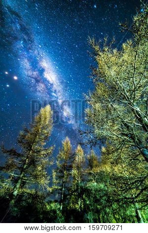 Milky way from glentanner campsite New Zealand.