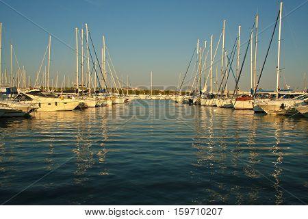 Vodice, Croatia, Marina view / Vodice, Croatia, Marina view.