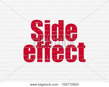 Healthcare concept: Painted red text Side Effect on White Brick wall background