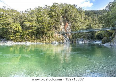 Blue pool river at Queentown New Zealand