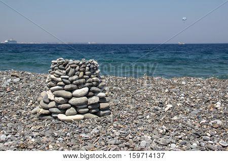 The Aegean Sea.  Coast of the Aegean Sea on a Greek island of Kos.